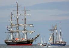 Gamla seglingskepp på Hansesail 2014 01 Royaltyfri Fotografi