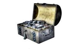 Gamla silvermynt Arkivbild