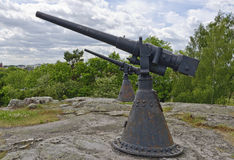 Gamla sjö- vapen Arkivfoton