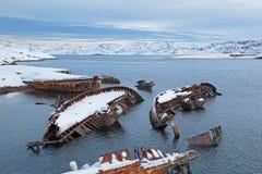 Gamla sjunkna skepp Fotografering för Bildbyråer