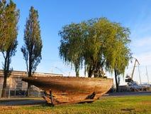 Gamla skepprest, Litauen Royaltyfria Foton