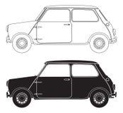 Gamla små bilöversikter Arkivfoto