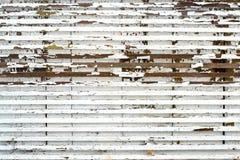 Gamla små träbräden med vit målarfärg för skalning Royaltyfri Foto