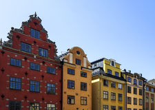 Gamla som är stan i Stockholm Sverige Royaltyfria Foton