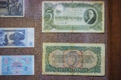 Gamla sovjetiska pappers- pengar Arkivfoto