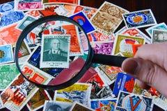 Gamla sovjetiska portostämplar Royaltyfri Fotografi