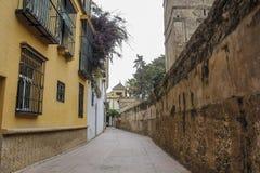 Gamla spanska gator arkivbilder