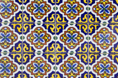 Gamla spanska keramiska tegelplattor Royaltyfri Fotografi