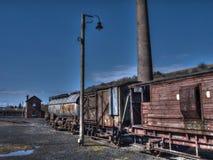 Gamla stångvagnar Arkivbild