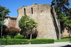 Gamla stadsväggar av Durres royaltyfria foton