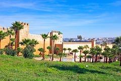 Gamla stadsväggar i Rabat, Marocko Royaltyfri Foto