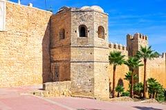 Gamla stadsväggar i Rabat, Marocko Royaltyfri Fotografi