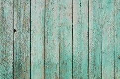 Gamla staketblått Royaltyfri Foto