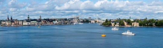 Gamla Stan全景在斯德哥尔摩,瑞典 免版税库存图片