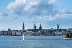 Gamla Stan全景在斯德哥尔摩,瑞典 免版税库存照片