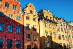 Gamla stan. Buildings in the old town in Stockholm. (Gamla stan Stock Photography