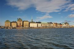 Gamla Stan from the boat Stock Image
