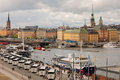 Gamla Stan in a cloudy summer day Royalty Free Stock Image