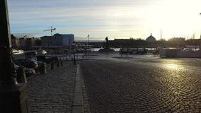Gamla Stan, de Oude Stad in Stockholm stock videobeelden