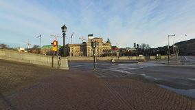 Gamla Stan, de Oude Stad in Stockholm stock footage