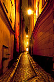 Gamla Stan, de Oude Stad in Stockholm, Zweden Royalty-vrije Stock Foto's