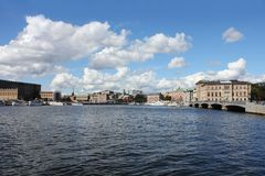 Gamla Stan dictrict in Stockholm Royalty Free Stock Images