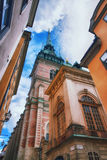 Gamla stan and the German Church, Stockholm Royalty Free Stock Images