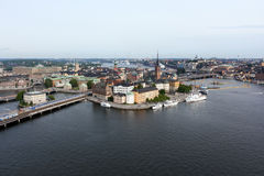 Gamla stan of the island Stadsholmen Stock Photos