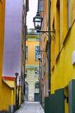 Gamla Stan, la ciudad vieja en Estocolmo Foto de archivo