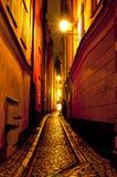 Gamla Stan, la vecchia città a Stoccolma, Svezia Fotografie Stock Libere da Diritti