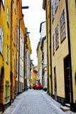 Gamla Stan, la vieille ville à Stockholm Photographie stock