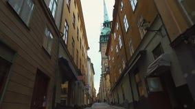 Gamla Stan, la vieille ville à Stockholm clips vidéos