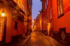 Gamla Stan at night, Stockholm Royalty Free Stock Image
