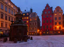 Gamla Stan at night, Stockholm Royalty Free Stock Photography
