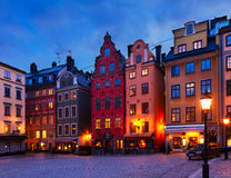 Gamla Stan at night, Stockholm Stock Photos