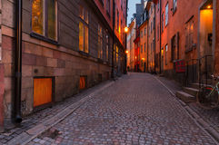 Gamla Stan at night, Stockholm Stock Photography
