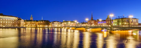 Gamla Stan at night Stock Photography