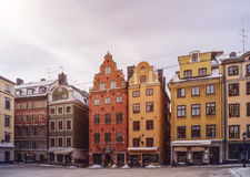 Gamla Stan. Old city of Stockholm in winter, Gamla Stan, Sweden Royalty Free Stock Image