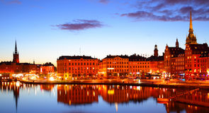 Gamla Stan. Old Town (Gamla Stan) of Stockholm at night Royalty Free Stock Photography