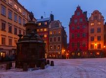 Gamla Stan på natten, Stockholm Royaltyfri Fotografi