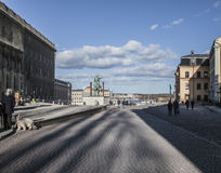 Gamla Stan/palace/Stockholm. A view of some of the buildings in Gamla Stan - the old town of Stockholm, Sweden; including the royal palace Royalty Free Stock Photography