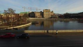Gamla Stan, Riksplan, den gamla staden i Stockholm stock video