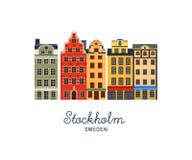 Gamla stan - Stary miasteczko Sztokholm, Szwecja Fotografia Stock