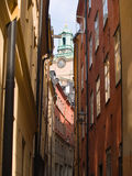 Gamla Stan, Stockholm. An alley in Gamla Stan, Stockholm Sweden Royalty Free Stock Photo