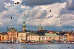 Gamla Stan in Stockholm, Schweden lizenzfreies stockfoto