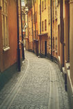 Gamla Stan Stockholm street Royalty Free Stock Photography
