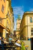 gamla stan stockholm sweden Arkivfoto
