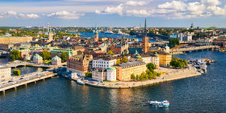 Gamla Stan in Stockholm, Sweden. Aerial view of Gamla Stan (old town) in Stockholm, Sweden stock photography