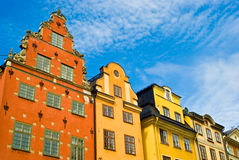 Gamla Stan, Stockholm, Sweden. Stortorget Square buildings in Gamla Stan, Stockholm, Sweden Stock Image