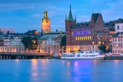 Gamla Stan in Stockholm, Zweden royalty-vrije stock afbeelding